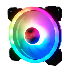 Quạt Tản Nhiệt, Fan Case Coolman Ver 4 - Led RGB Dual Ring + Led Rainbow