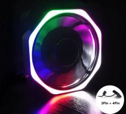 Fan Case 12cm Coolmoon Led RGB Ver 8  - Không Cần Hub