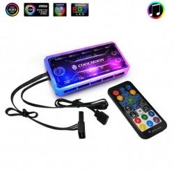 Bộ Hub Và Remote Coolmoon, Hỗ trợ Aura Sync, Gigabyte Fusion, Mystic Light Sync - Thay Đổi Hiệu Ứng Theo Nhạc
