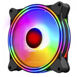 Quạt Tản Nhiệt, Fan Case Coolmoon M1 Led RGB 16 Triệu Màu, 366 Hiệu Ứng