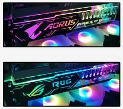 Giá Đỡ VGA Coolmoon Led RGB Độ Dài 25cm - Đồng Bộ Hub Coolmoon / Auto