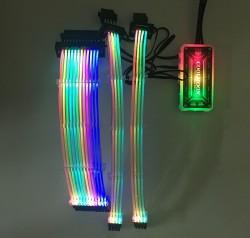Dây Nguồn Nối Dài Coolmoon Led RGB 16 Triệu Màu - Đồng Bộ Hub, Cắm Cổng Fan