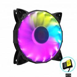Quạt Tản Nhiệt, Fan Case Led RGB Coolmoon K1 - Tự Động Đổi Màu, Không Cần Hub