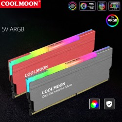 Tản Nhiệt Ram Led RGB Coolmoon - Hỗ Trợ Đồng Bộ Hub Coolmoon / Đồng Bộ Mainboard