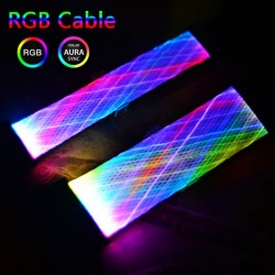 Dây Nguồn Nối Dài Led RGB Dạng Lưới - Hỗ Trợ Đồng Bộ Hub Coolmoon / Đồng Bộ Mainboard