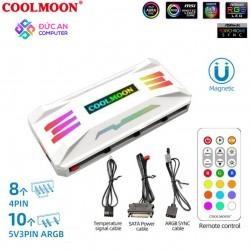 Bộ Hub Coolmoon P-ARGB Dùng Cho Fan Led RGB Có Điều Tốc PWM - Hỗ Trợ Sync Main