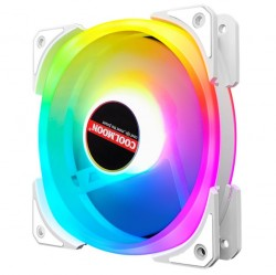 Quạt Tản Nhiệt, Fan Led RGB Coolmoon U4 Led Cả Vòng Ring Và Tâm Quạt - Đồng Bộ Hub Coolmoon