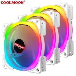 Quạt Tản Nhiệt, Fan Led RGB Coolmoon U2 - Đồng Bộ Hub Coolmoon