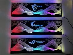 Cover Che Nguồn Máy Tính Led RGB Đồng Bộ Hub Coolmoon Và Mainboard (3Pin 5V) - Họa Tiết Sóng Vô Cực và Logo Các Hãng
