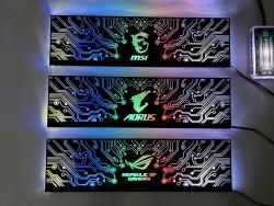 Cover Che Nguồn Máy Tính Led RGB Đồng Bộ Hub Coolmoon Và Mainboard(3Pin 5V) - Họa Tiết Mạch Điện Vô Cực và Logo Các Hãng