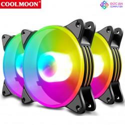 Quạt Tản Nhiệt, Fan Case Led RGB Coolmoon H1 - Đồng Bộ Hub
