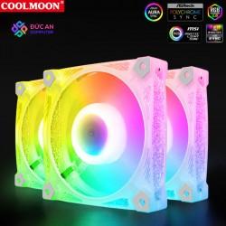 Quạt Tản Nhiệt, Fan Case Led RGB Coolmoon D2 - Đồng Bộ Hub