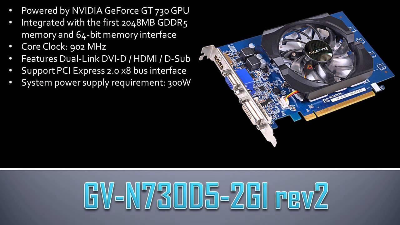 Card Màn Hình GIGABYTE GV-N 730 D5-2GI (GEFORCE GT 730)