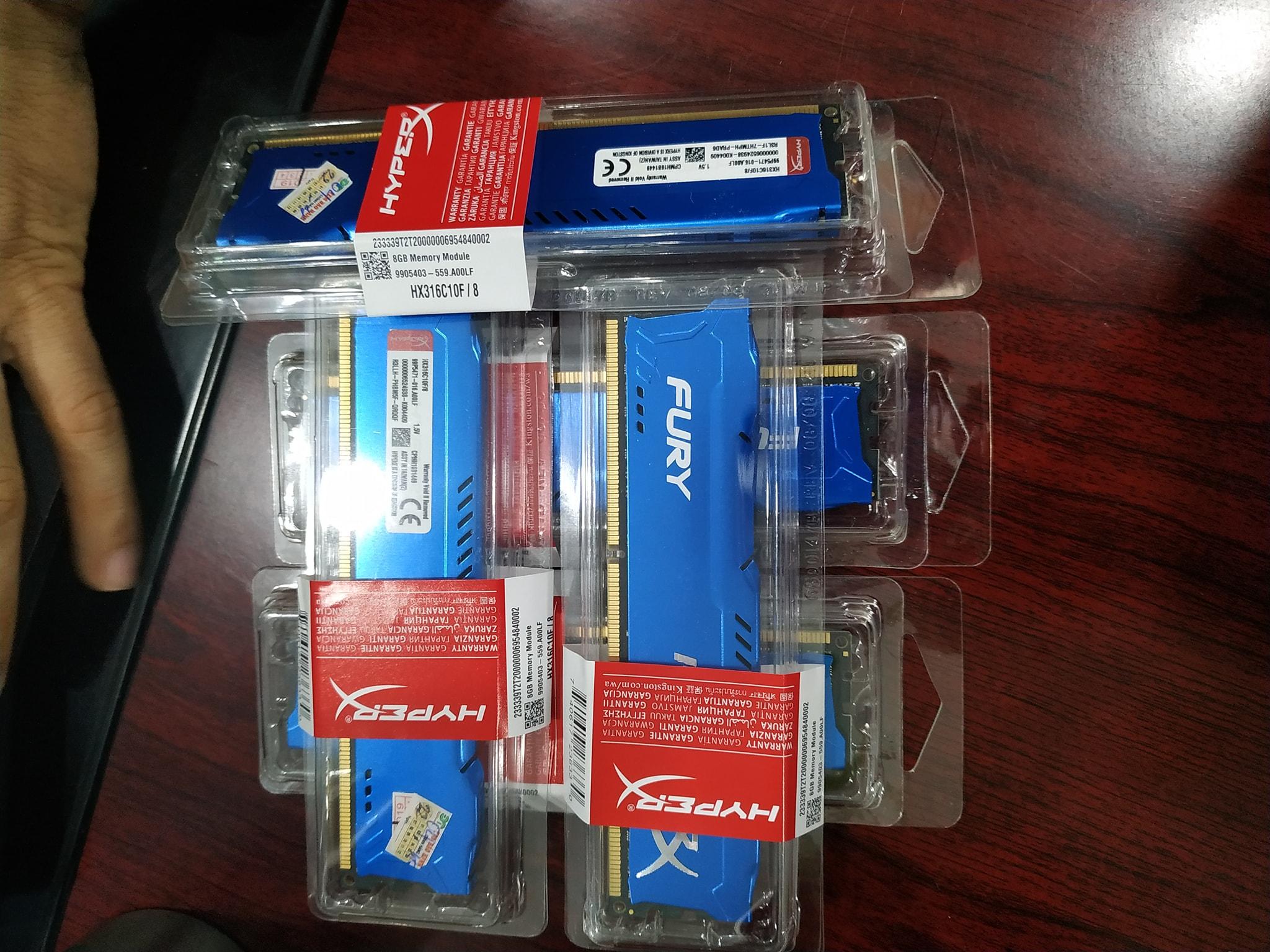 RAM Kingston HyperX Fury 8GB (1x8GB) DDR3 Bus 1600Mhz - Blue
