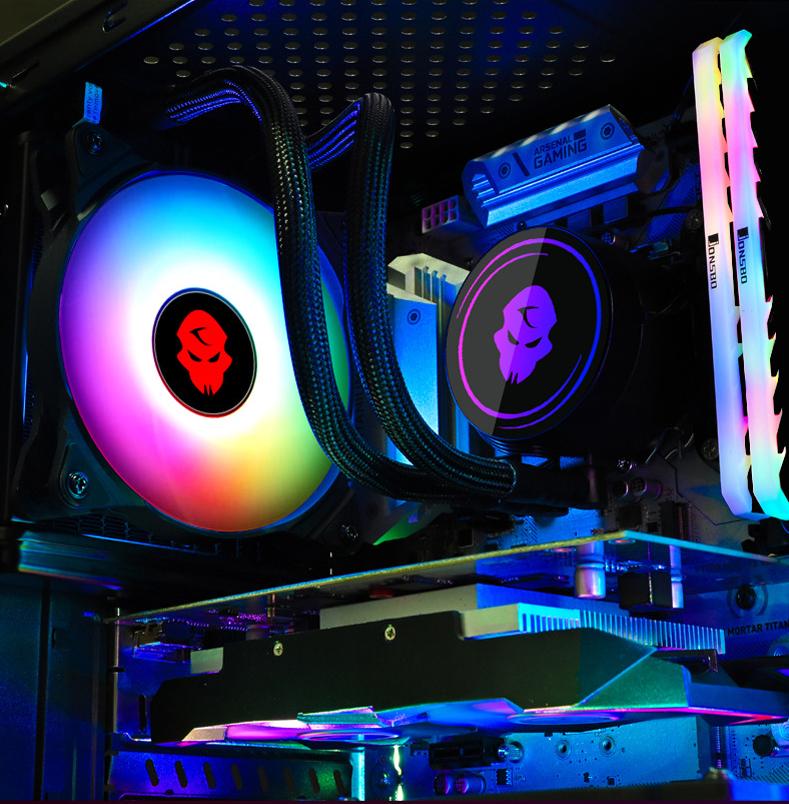 Tản Nhiệt Nước All in One Coolmoon 120 RGB - Hỗ Trợ All CPU