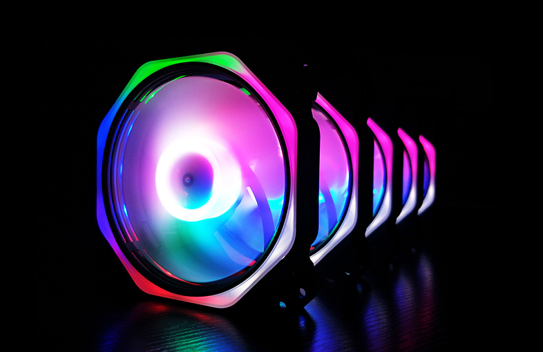 Quạt Tản Nhiệt, Fan Case Coolmoon Ver 8.2 Led Ring Và Led Trong Fan - Không Cần Hub